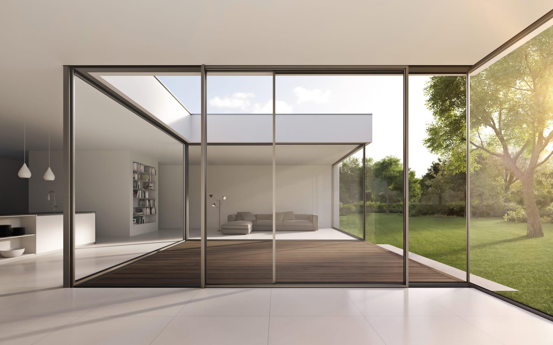 Ganzglas-Schiebesysteme für mehr Licht im Raum