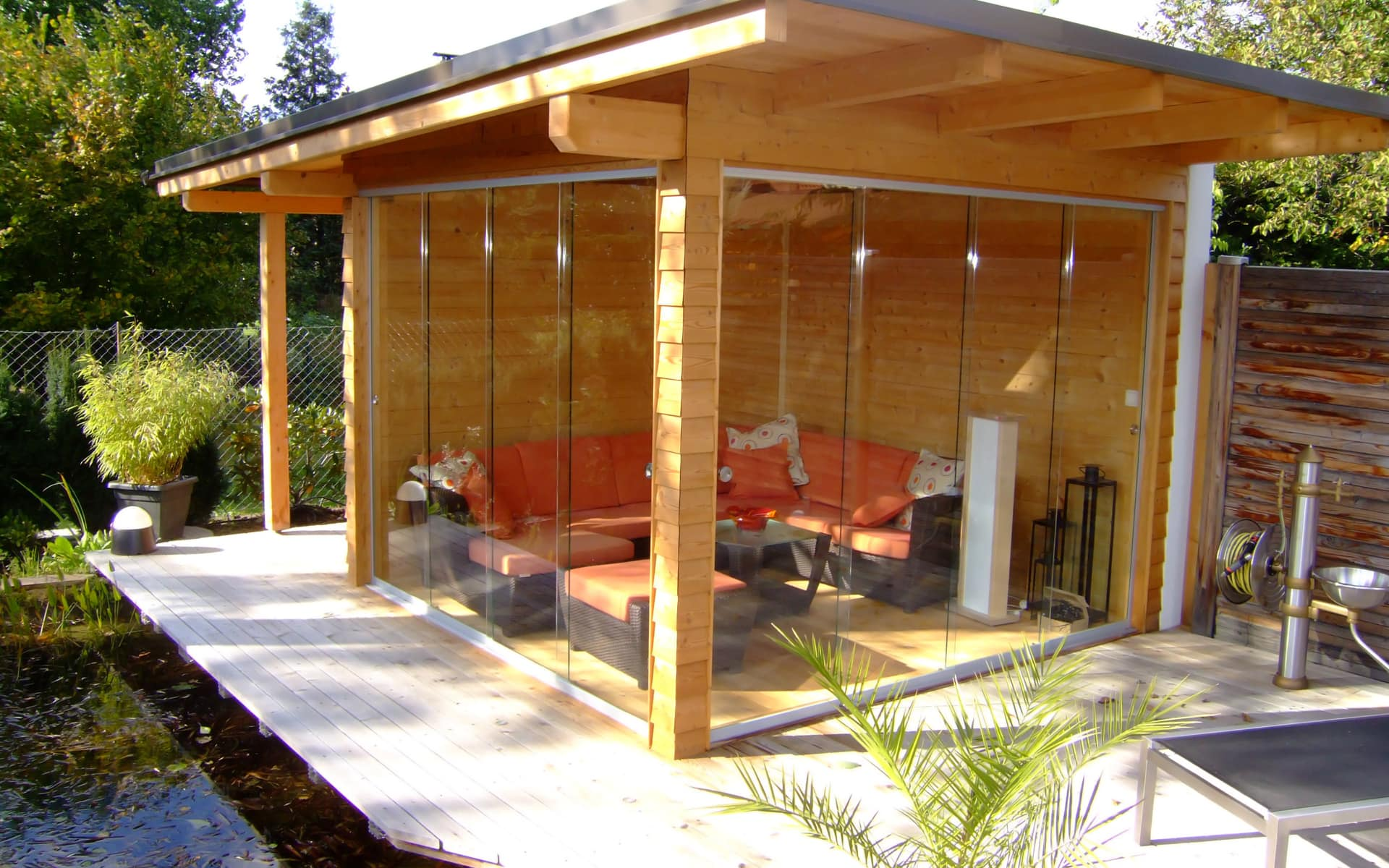 Ein gemütliches Gartenhaus