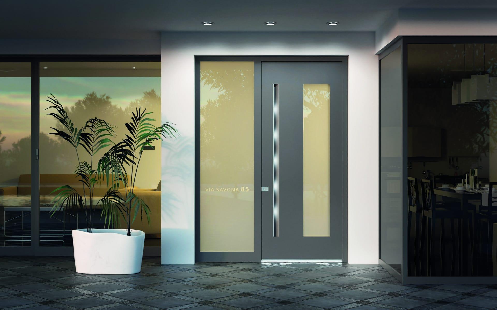 Moderne Tür für zeitgemäßes Wohnen
