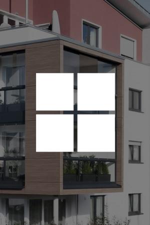 Fenster und Verglasungen für die Loggia