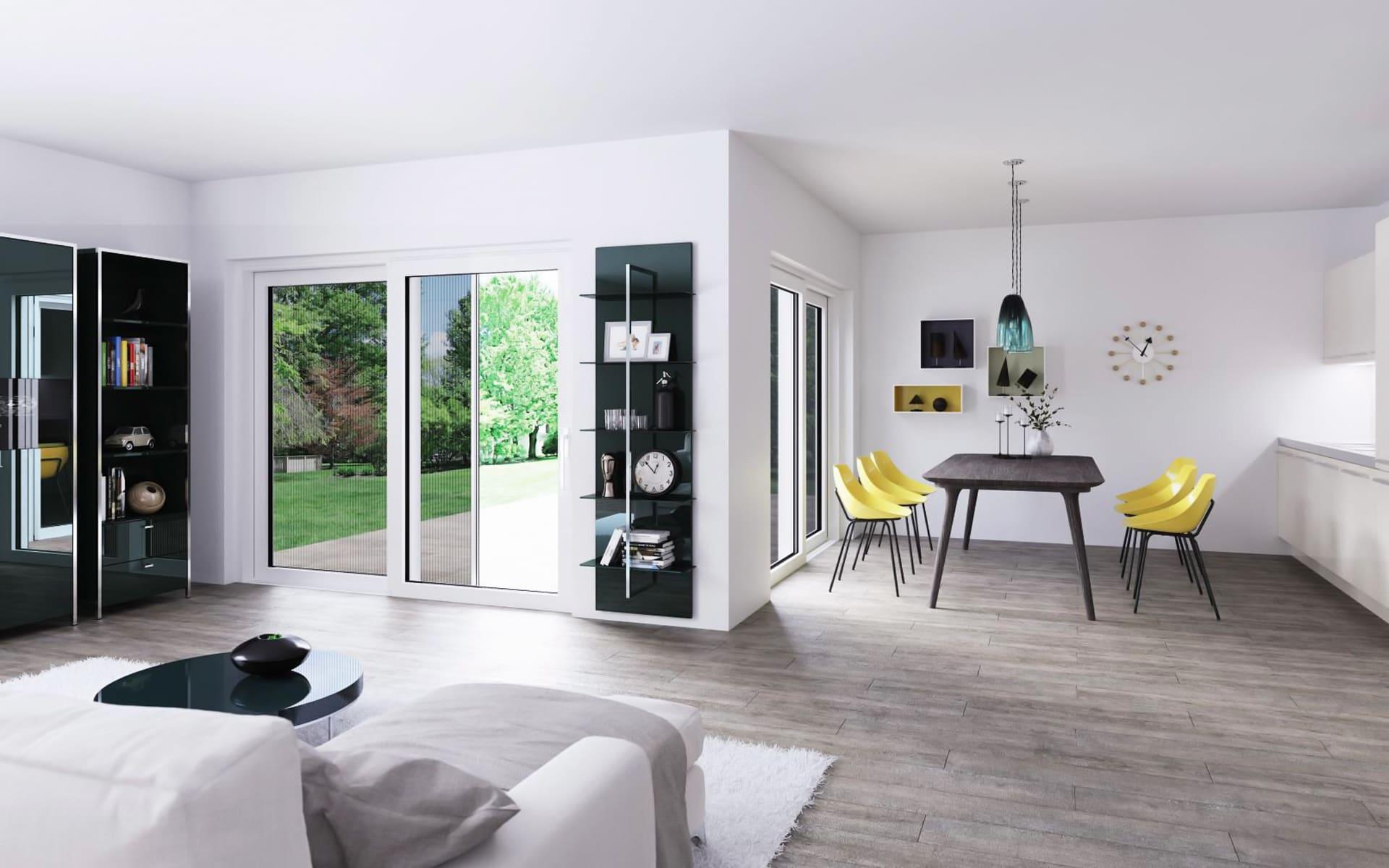Fenster aus Aluminium, Holz oder Kunststoff