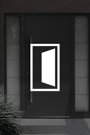 Die Tür zu ihrem Heim!