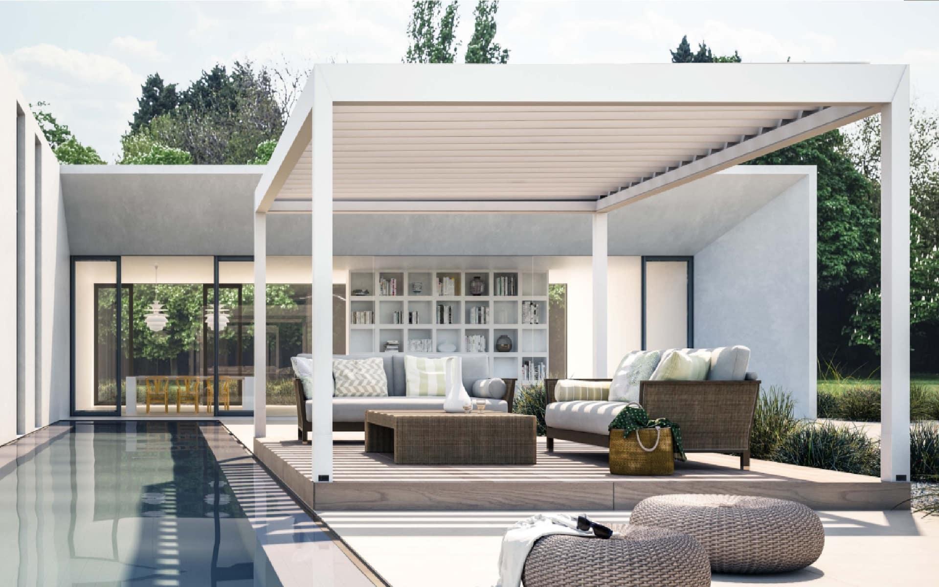 Terrassendach zum Schutz der Gartenmöbel